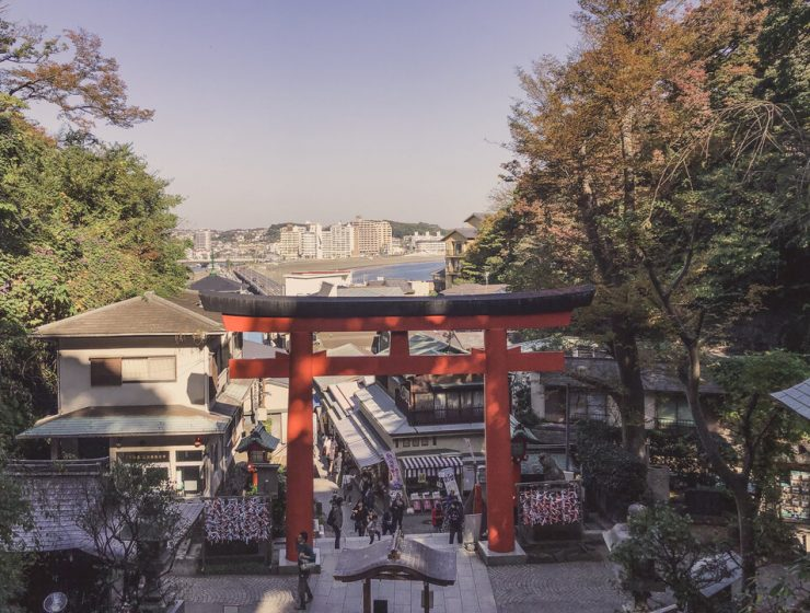 Enoshima Island Japan - Enoshima Shrine Light
