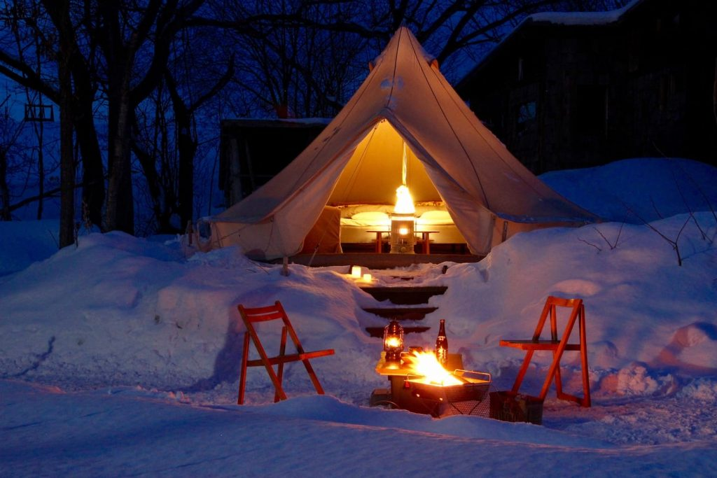 Glamping Japan - Niseko Winter Outdoor Stay Experience - Bongo 2