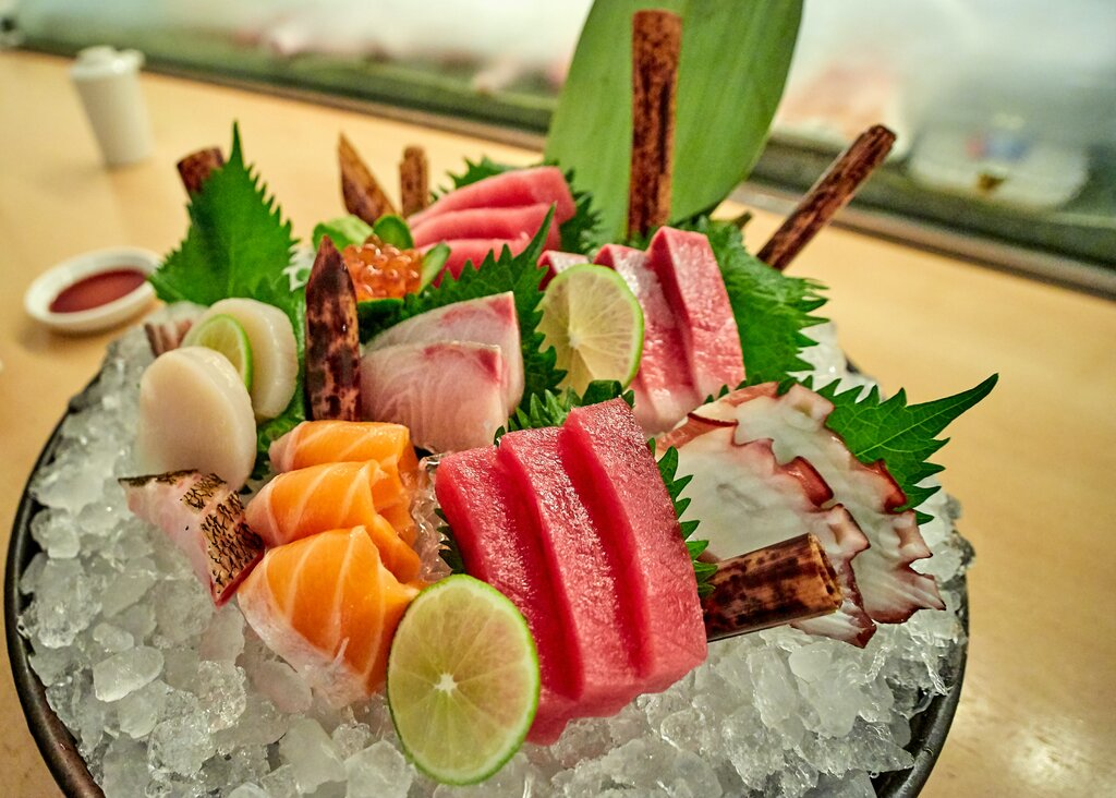 Healthy Japanese Food - Sashimi Fish