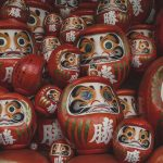 Katsuoji Temple Osaka Japan Travel 4 Daruma Dolls